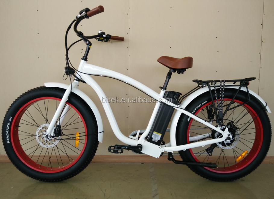 Fat Tyre Beach Cruiser Ebike Snow E Bike Electric Fat Bike