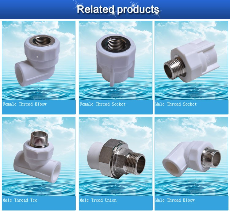 Hdpe upvc plastic pvc pipe fitting pe ppr and