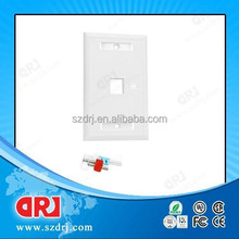 cat5e single port rj45 faceplate
