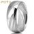 POYA Jewelry 8mm Damascus Steel Mens Wedding Ring Domed Wood Grain Bold Hand Wedding Band