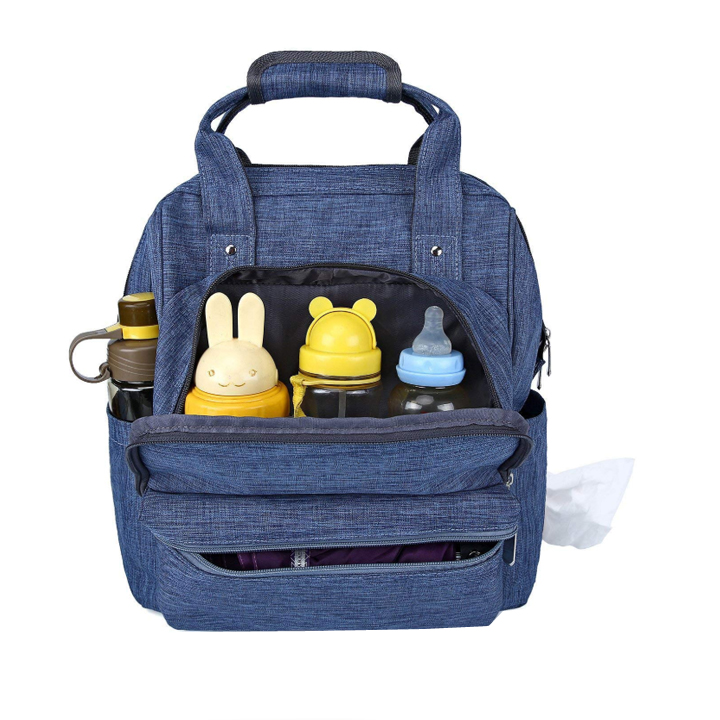 Custom Waterproof Multifunction Large Capacity Portable Mummy Nappy Backpack Cute Baby Diaper Bag