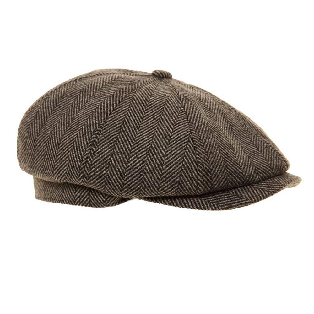 Mens Or Boys Tweed Country Flat Cap Peaked Outdoors Check Racing Hat Newsboy Hat Latest Fashion Hats Clothing, Shoes & Accessories