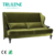 Soft and smooth fabric sofa restaurant furniture sofa set with high density sponge and solid wood leg