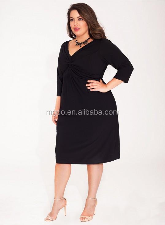 Petite robe noire grande taille pas cher