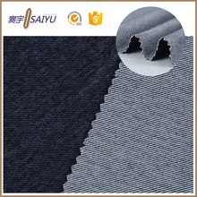 Wholesale high quality cheap black knitted 100% Cotton denim fabric for jeans