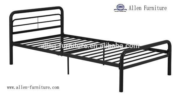 Muebles De Dormitorio Plata/negro Metal Adultos Cama Doble Con Tubo ...