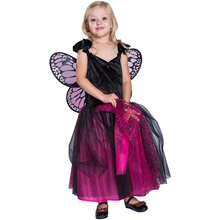 New Arrival kids butterfly Party Princess Dress costume With Wing