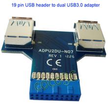Free Shipping T Tpye USB 3.0 Hub 19pin USB 3.0 header to Dual USB3.0 A Female Port Converter Card USB3.0 Adapter