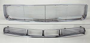 Ford Mustang 05-09 V6 Front Upper & Lower Chrome Billet Style Bumper Hood Grill
