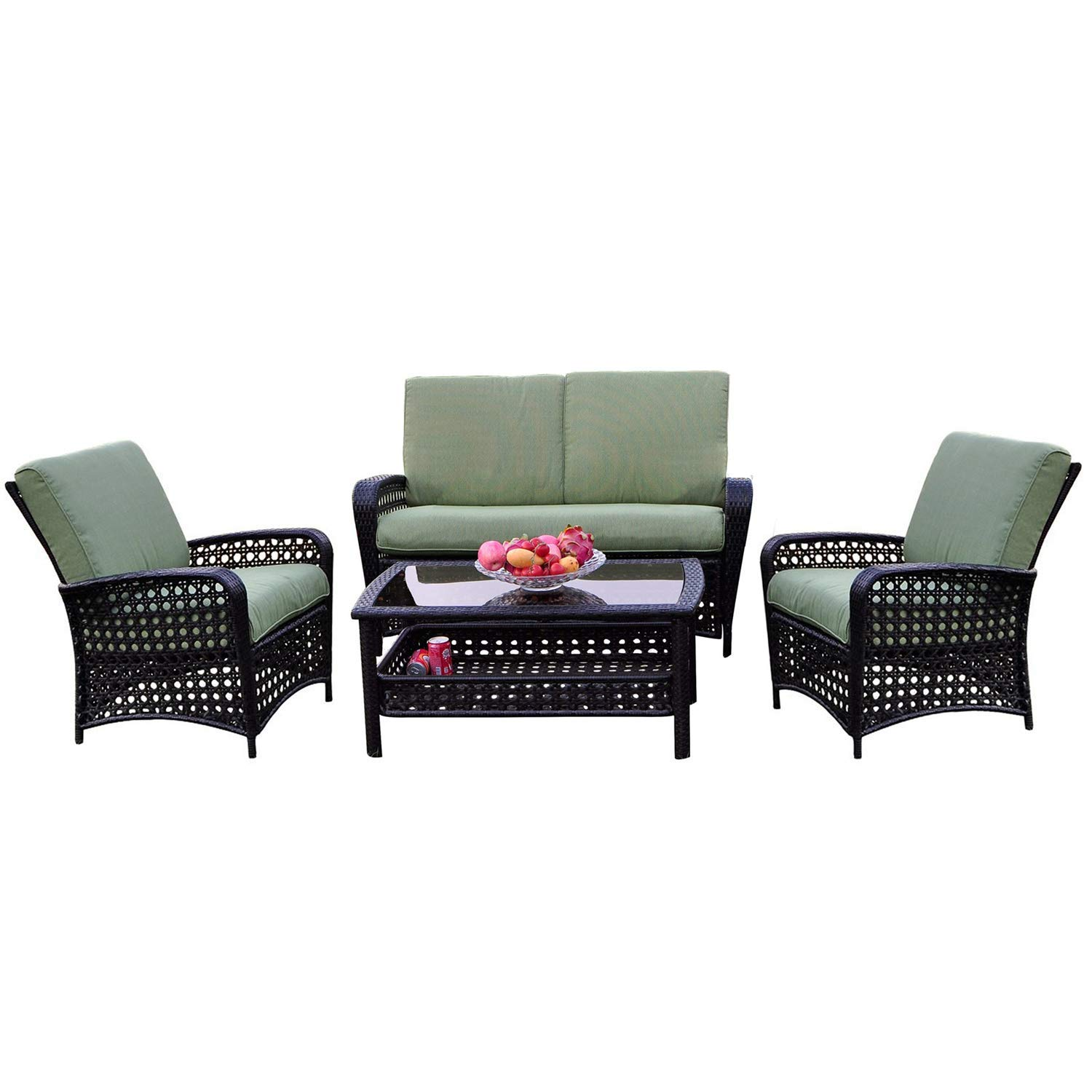 Get Quotations I Choice 4 Pcs Patio Rattan Furniture Set All Weather Outdoor Wicker Sofas With