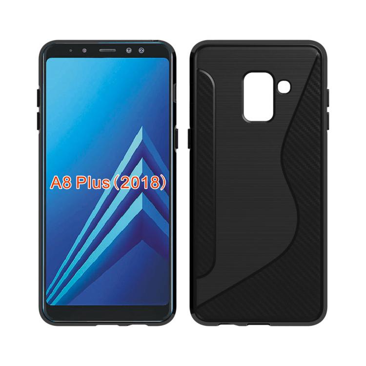 76e0b4fcd9f1 Accesorios del teléfono móvil de TPU de línea S de caso para Samsung Galaxy  A8 +
