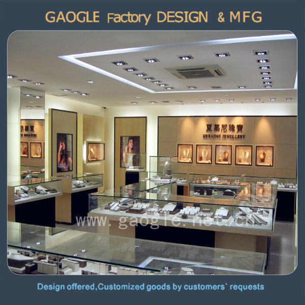 Mdf Jewellery Shop Counter Design With Tempered Glass