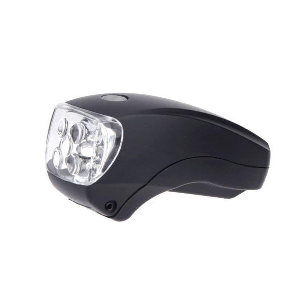 GQMART Cycling Ultra Bright 5 Led Bicycle Bike Front White Head Light Safety Lamp Flashlight 3 Mode Weather Resistant