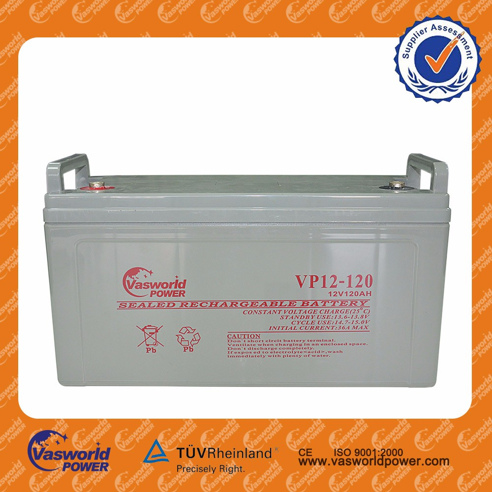 Battery factory supply industrial batteries 12v 120ah deep cycle Marine boats battery