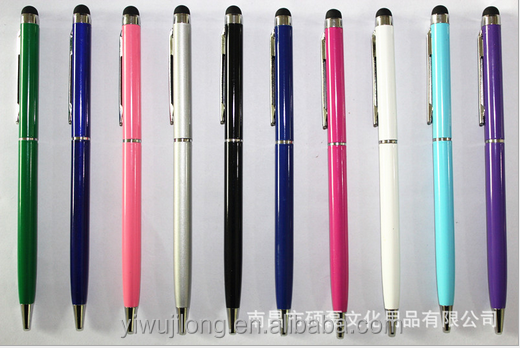 Advertising promotional cheap metal ball pen with stylus for office business hotel