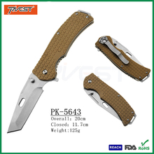 G10 Handle Stainless Steel Folding Tactical Combat Training Knife