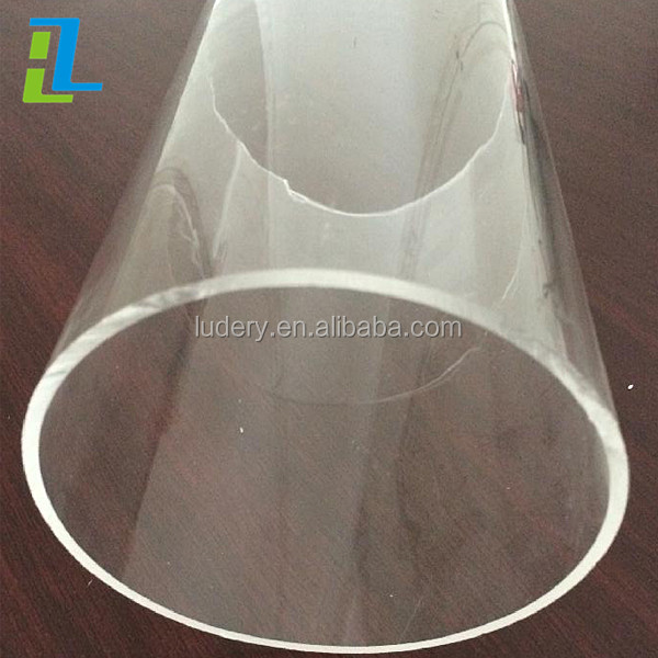 Cylindre acrylique transparent de grand diamètre/cylindre PMMA