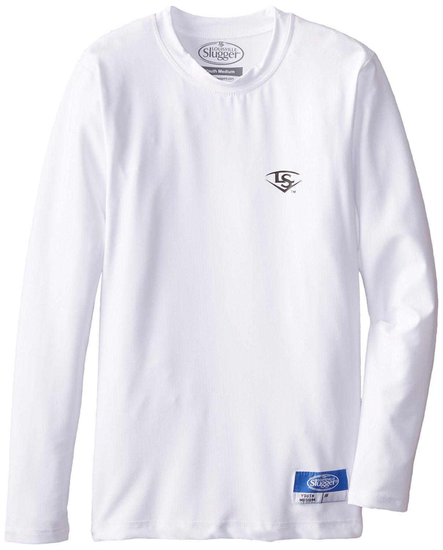 Louisville Slugger Boy's Compression-Fit Crew Long Sleeve Shirt