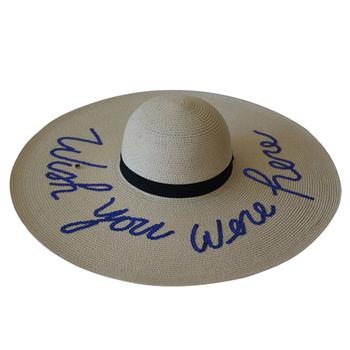 Ladies Superb Summer Beach Floppy Derby Hat Large Brim Straw Hat ... aa8ec040116