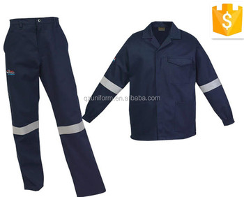 a47fe6a4e62218 2 pezzi blu pantaloni di cotone e giacca tute da lavoro con nastri  riflettenti