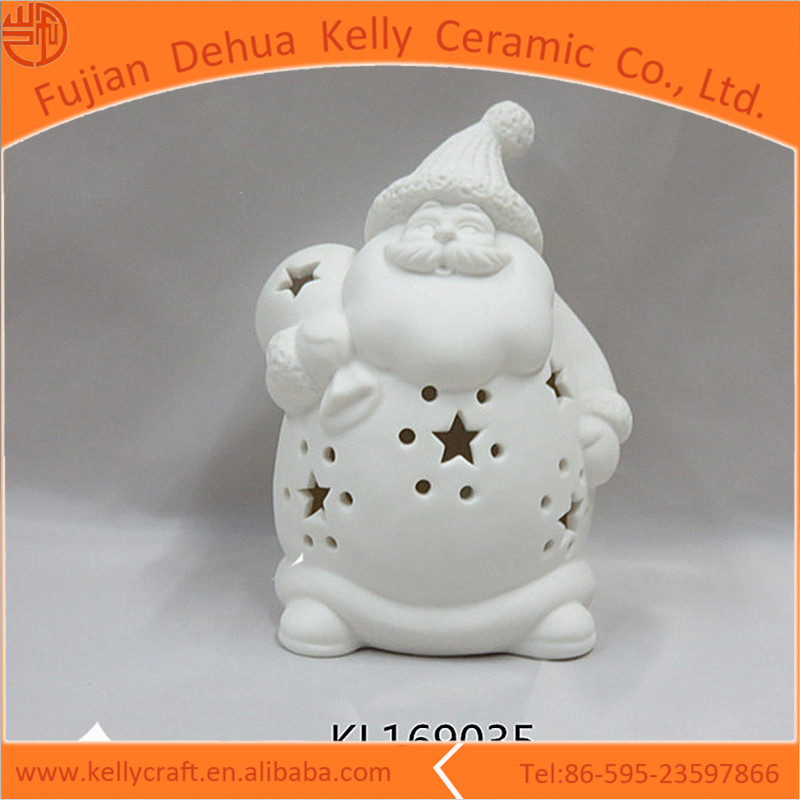 Ceramic piercing Santa Claus figurine ornaments