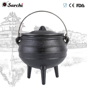 Pre-seasoned Hot Camping For Picnic With 3 Legs Cookware South African Cast Iron Cauldron