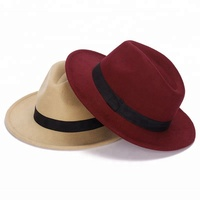 Autumn winter men's ladies' jazz hat imitation wool felt hat