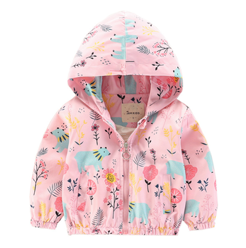New design little girl like clothes beautiful flower pattern baby girl's jacket