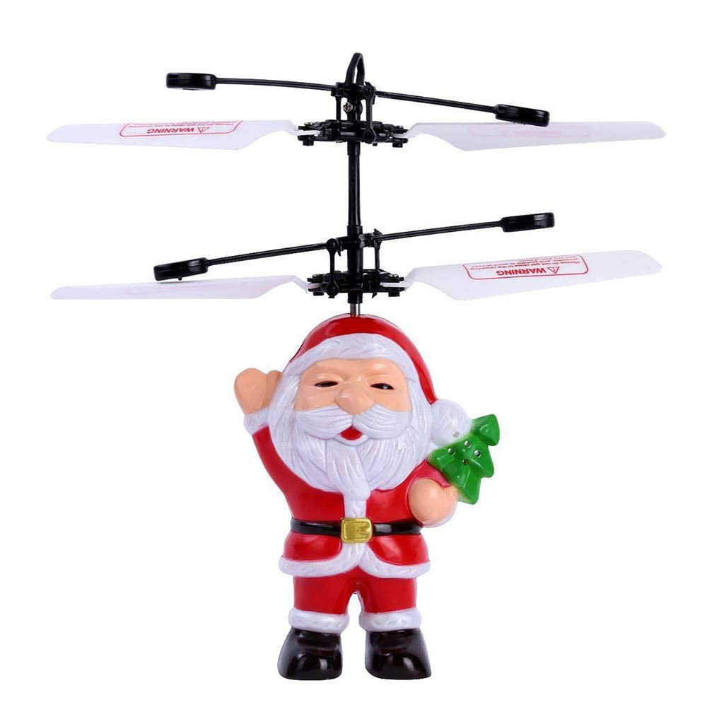 Get Quotations  C2 B7 Goodtrade81 Santa Claus Aircraft Led Light Electric Infrared Sensor Flying Ball Father Christmas Helicopter Toys