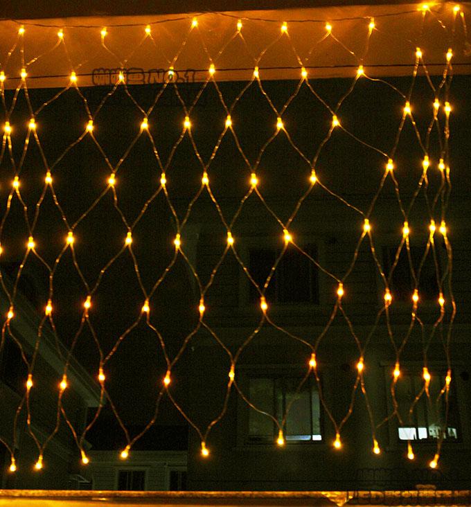 Free Shipping 220v 1 5 5m 96l Led Net Lights String Light Chrismas Decoration With Plug Connector 8 Model Control