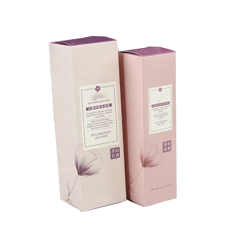 Custom essential oil bottle packaging paper cosmetic boxes
