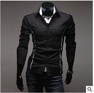 Мужчины в свободного покроя рубашка весна платье мужчины приталенный стильный одежда мужчины рубашки 3 цвета