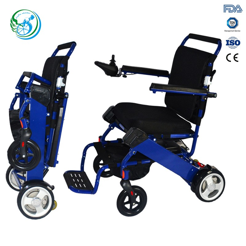Small e fold power wheelchair for disabled