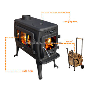 Portable small wood stove boiler and cooking stove