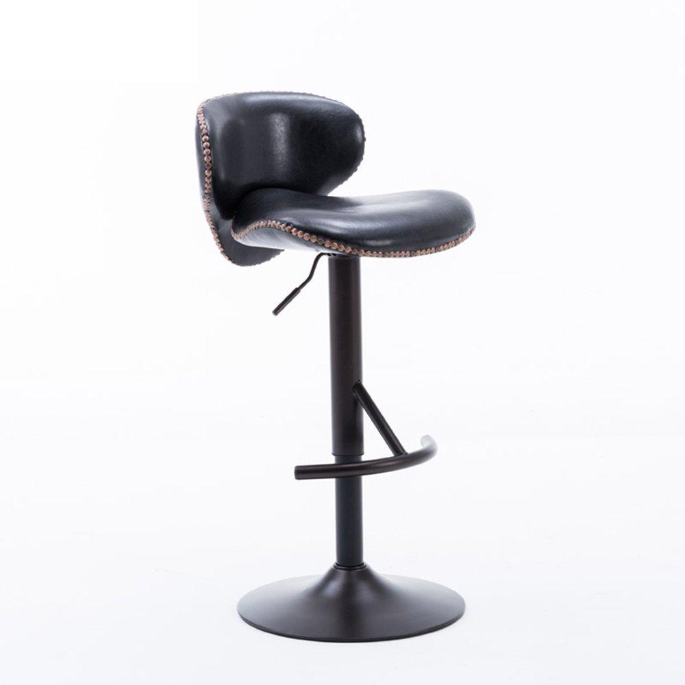 WENBO HOME- European bar chairs, lift bar chairs, rotating bar chairs, cashier high stool, front desk chair -chair ( Color : Black )