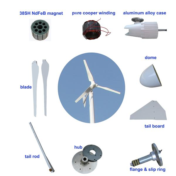 Small Wind Turbine For Home Use Part - 49: Small Wind Mill Price 1500w Wind Turbine Generator For Home Use