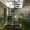 China iron outdoor spiral staircase for attic design supplier