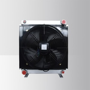 hydraulic fan oil cooler with fans for engine cooling