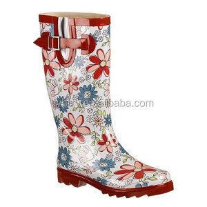 2016 high quality wellies with high heel wholesale wellies