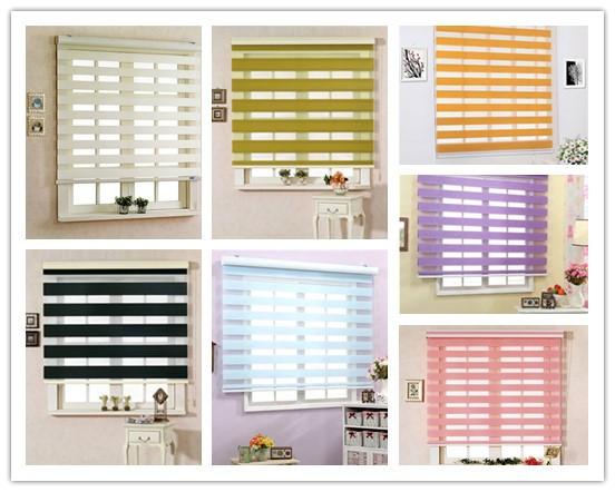 Yilian High Quality Rainbow Colored Window Blinds Internal Zebra Blind