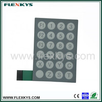 Professional membrane keyboard for medical equipment