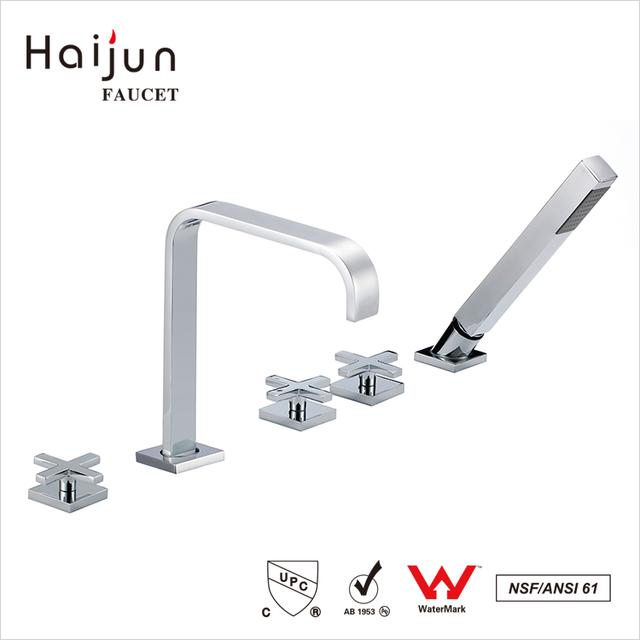 Haijun China Price CUpc ISO 9001:2008 Freestanding Bathtub Water Faucet