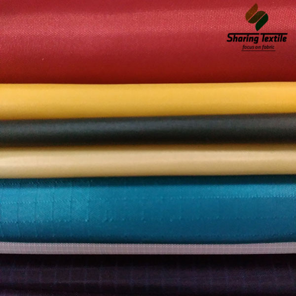 Wholesale 40D Or 70D 210T To 320T Nylon&Polyamide Plain And DObby Cire Taffeta Fabric