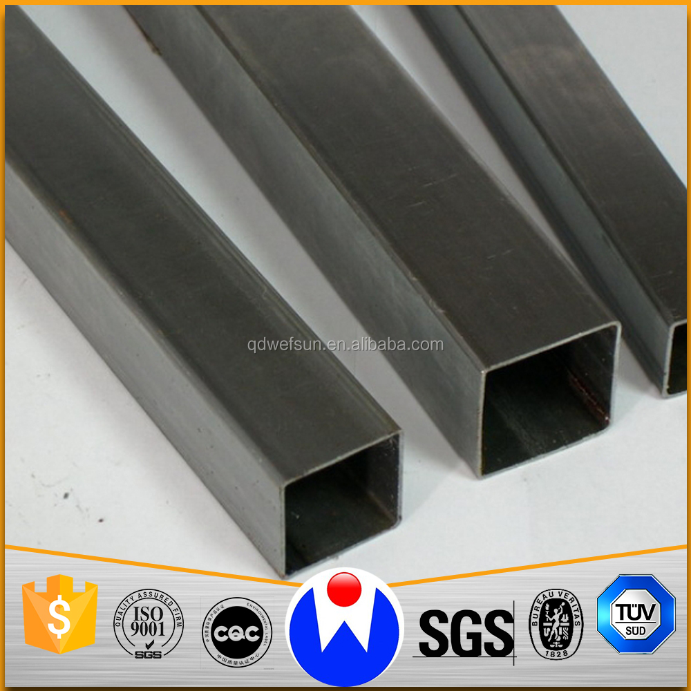Low Price Heavy Anti-Rust Oil Coating Electrical Resistance Weld Mild Steel Pipe for Building Structure Use