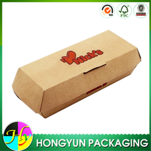 Custom logo printed kraft paper hot dog box