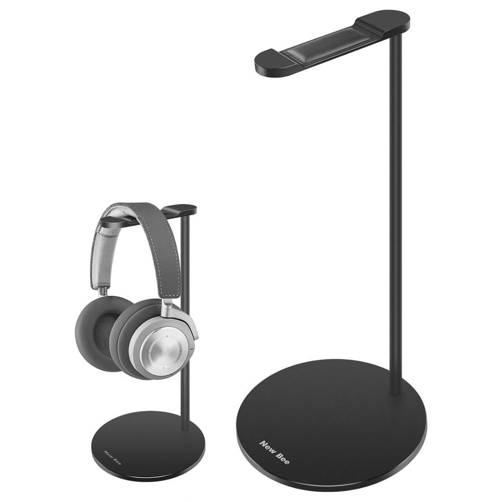 New Bee Metal Headphone <strong>Stand</strong>/Holder Advanced Aluminum Gaming Headset Holder for All Headphone Sizes - Black