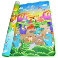0 5cm Double Side Baby Crawling Play Mat Dinosaur Puzzle Game Gym Soft Floor Eva Foam