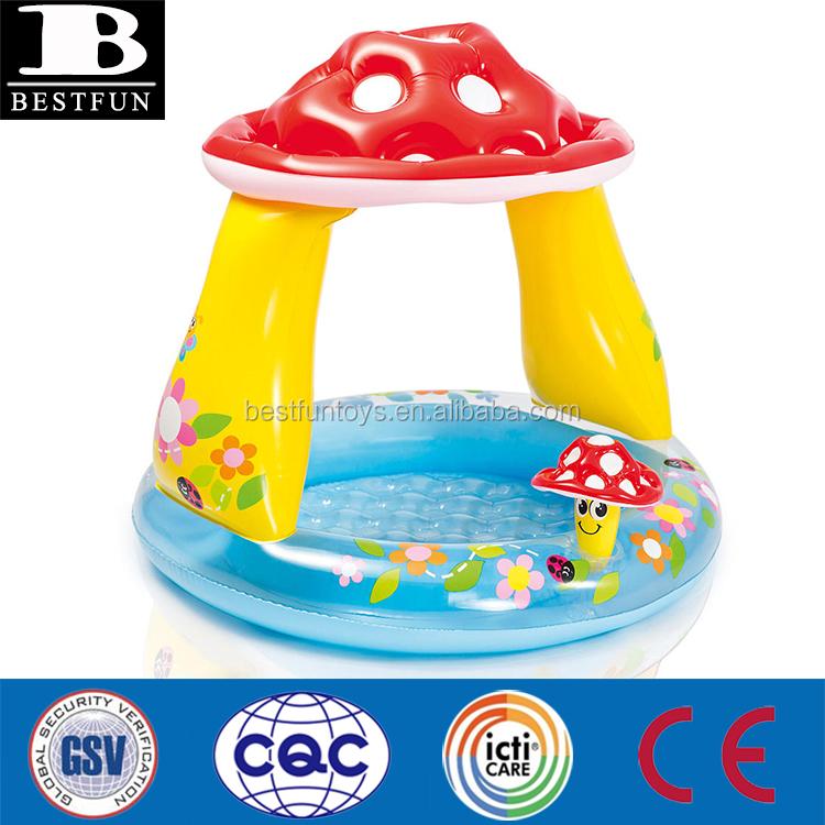 Hoge kwaliteit opblaasbare paddestoel baby zwembad zware for Zwembad plastic