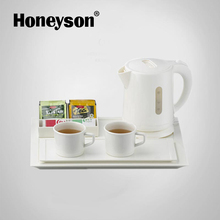 Honeyson courtesy tray coffee traditional electric kettle white for hotel