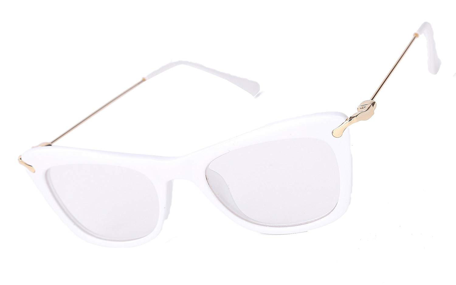 b4d83a27f Get Quotations · Beison Womens Cat Eye Glasses Frame With Metal Arms Clear  Lens